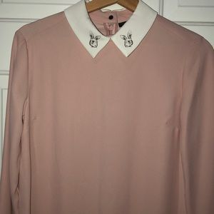 Victoria Beckham Soft Pink Shift Dress